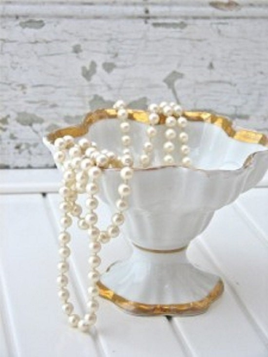 Ivory Pearl Garland Shabby Home Decor Table Top Decoration