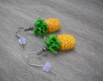 Pineapple Earrings, psych tv series inspired dangling pineapples