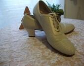 1930s Vintage Dickerson designer Womens Shoes Sz 9 1/2