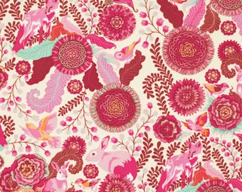 Foxtrot in Sunrise PWTP045 - Tula Pink  FOX FIELD - Free Spirit Fabric - By the Yard