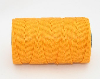 Waxed Irish Linen Thread Bright Autumn Yellow 7 Ply Waxed Thread