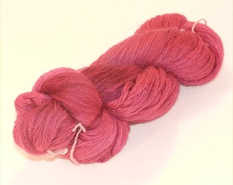 Laceweight BFL Blue Faced Leicester - Raspberry Beret