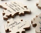 10-200 piece Wedding Guestbook Puzzle, custom guestbook alternative, WOOD puzzle guest book, Bella Puzzles™, rustic wedding, boho wedding