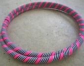 HyPnOtiC StRiPeS, Collapsible Fabric Hula Hoop, CUSTOM Tubing, Diameter & Grip Color, Hiptronic EXCLUSIVE