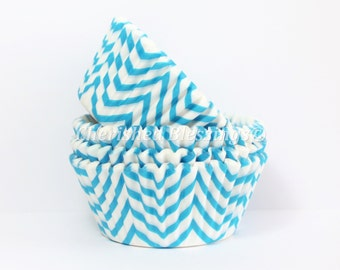 Cupcake Liners, Aqua Chevron Cupcake Liners, Buy One Get One, Turquoise Baking Cups, Chevron Cupcake Cups, Muffin Cups, Wedding, Baby Shower