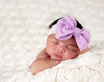 Baby headband, newborn headband, adult headband, child headband and photography prop The single sprinkled sparkle BOW headband