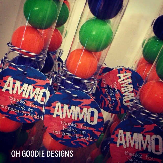 18th Birthday Birthday Party Favor Gumball Candy: Paintball Candy Favor With Gumball AMMO By Ohgoodiedesigns