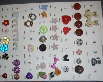 Card of 49 Vintage Assorted Buttons