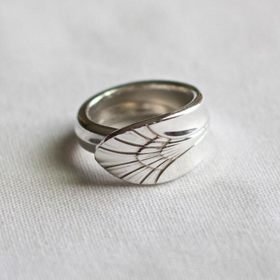 spoon ring manhattan 1951 silverware jewelry by spooninjewelry