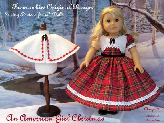 "PDF Sewing Pattern / An American Girl Christmas / Clothes Fit American Girl® or other 18"" Dolls"