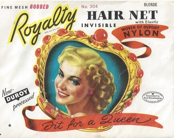 Royalty Vintage Nylon Hair Net, 1940s