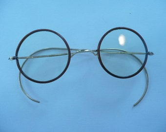 Antique Eyeglasses in Perfect Shape Perfectly Round from the Early 1900s
