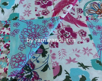 """cotton fabric, patchwork print cotton fabric, half yard by 58"""" wide"""