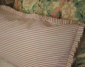 """country french lumbar pillow  36"""" x 14"""""""