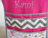 NEW - Owl & Chevron Deluxe Seat Sack with Personalized Embroidery - BeautifulHomeDesigns