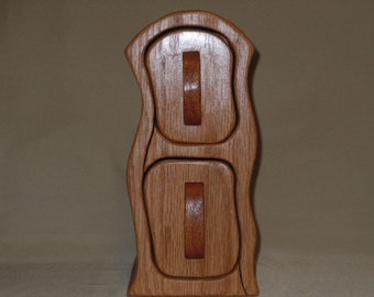 Red Oak/African Mahogany Jewelry/Keepsake Bandsaw Box