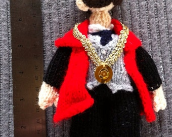 Trumpton knitted doll: the Mayor of Trumpton