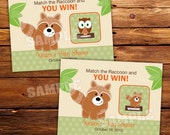 Woodland Neutral Baby Shower Scratch Off Ticket Favors - Set of 20 Tickets