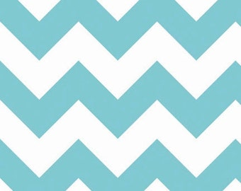 Riley Blake Chevron - Aqua - Large - BTY
