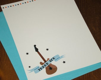 Rock Star thank you notes - boy - Set of 12