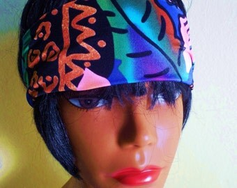 Extra Wide Tropical Stretch Headband