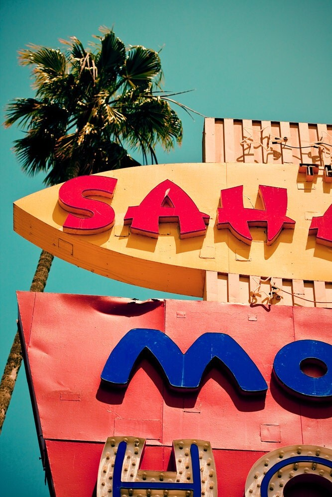 Saharan Motor Hotel Vintage Neon Sign Retro Hollywood Home