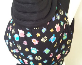 MEI TAI Baby Carrier / Sling / Reversible/ Owland with Black in straight cut model
