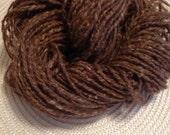 Buffalo Shetland wool hand spun yarn Exotic fiber yarn