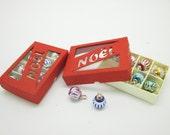 Miniature christmas box with 8 ball