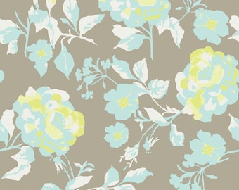 Emily Taylor for Riley Blake Designs - KENSINGTON -  Main Floral in Gray - Cotton Fabric