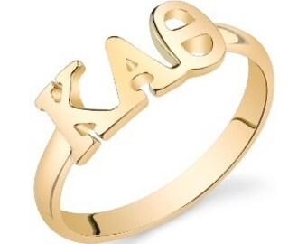 gold vermeil kappa alpha theta letter ring