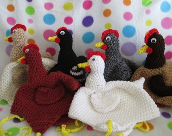 Crochet Chicken Hat Adult size