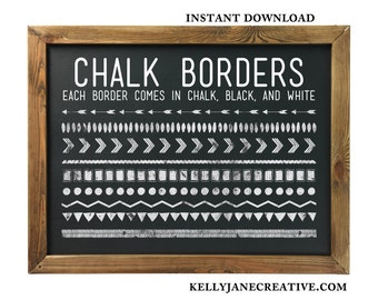 Tribal Arrow Clipart Borders - Chalkboard Web Tile - Blog Graphics - Includes 28 PNG, 1 EPS, 1 PSD - Instant Download