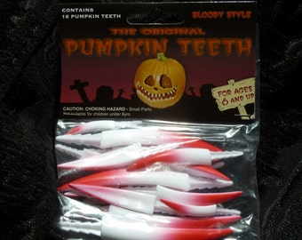Special Edition Bloody  Fangs 18 pcs 4,Lg, 6,Med, 8,small