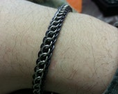 RESERVED FOR KRISTALYNN77 - Two tone Steel and Titanium anklet