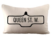 Toronto Street Sign - Or Personalized Street Name - Cushion Cover - 12x18