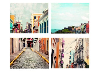 Discount Puerto Rico Photo Set - Fine Art Prints, four photographs, Old San Juan, Puerto Rican, Art, San Juan, Print, Art, 5x7, 8x10, 11x14