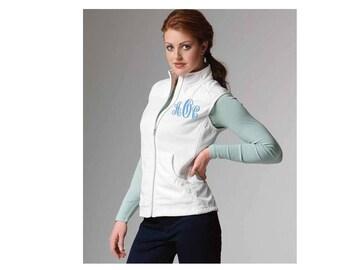 Women's monogrammed vest...