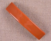 "Tiffany Fused Glass Barrette - 3.5"" 9cm - Orange Apricot Salmon Solid Tangerine Carrot Pumpkin Mango Terra Cotta Stained Glass"