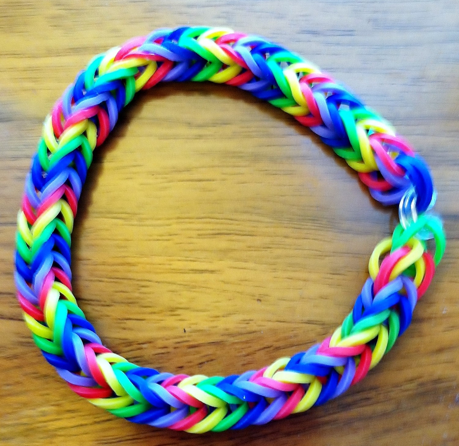 hot item fishtail rainbow loom rainbowcolored bracelet