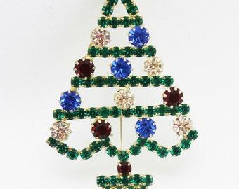 Christmas Tree Colorful Holiday Pin