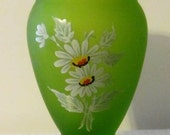 CLEARANCE    Westmoreland Satin Daisy Pattern Vase Circa 1970's