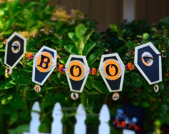 Halloween Spooky Vintage Banner Instant Download PDF Pattern and Tutorial For Beautiful Bunting