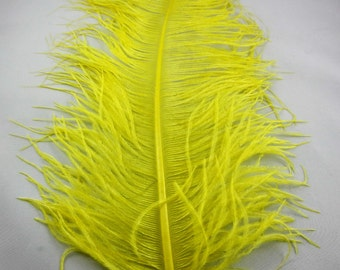 Yellow OSTRICH Plume ostd-02 craft feathers