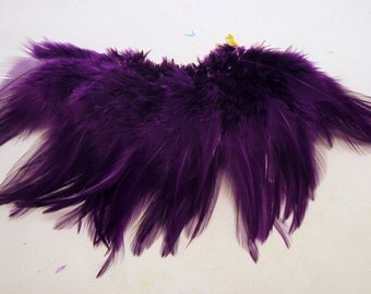 Feathers Strung Saddle Bright Purple  K32  3 to 4 inches