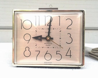 Vintage Westclox Alarm Clock 1980s Dialite Drowse Time Piece Modern Living Decor  Snooze Alarm Accessory Bedroom