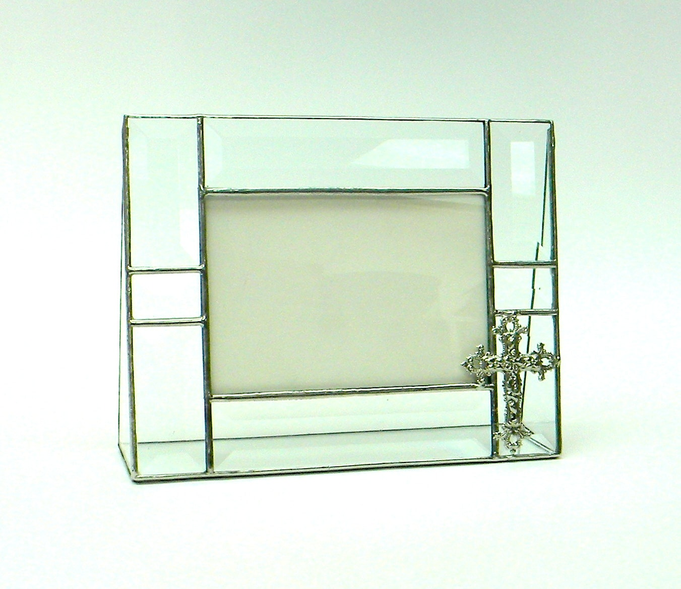 clear bevel stained glass picture frame with by