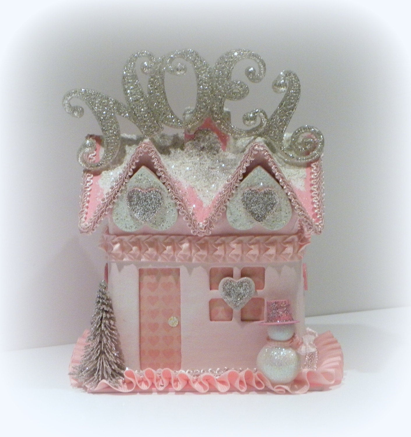 Shabby chic christmas christmas decoration pink gift box - Deco noel shabby chic ...