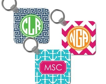 Personalized Womens Keychain- Monogram- Design your Own Bridesmaid Gift - Teacher Gift