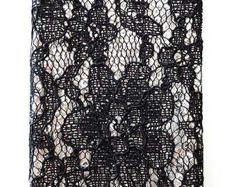 For IPHONE 5 5s Apple Sequin Black Lace Cell Phone Hard Case